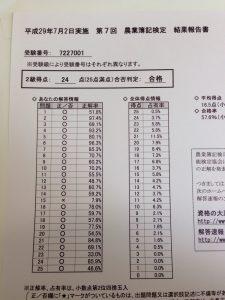 2級の成績
